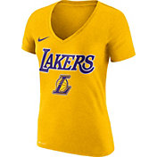 Nike Women's Los Angeles Lakers Dri-FIT Gold Wordmark V-Neck T-Shirt