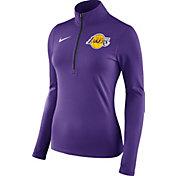 Nike Women's Los Angeles Lakers Dri-FIT Purple Element Half-Zip Pullover