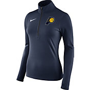 Nike Women's Indiana Pacers Dri-FIT Navy Element Half-Zip Pullover