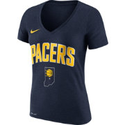 Nike Women's Indiana Pacers Dri-FIT Navy Wordmark V-Neck T-Shirt