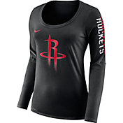Nike Women's Houston Rockets Dri-FIT Black Logo Long Sleeve Shirt