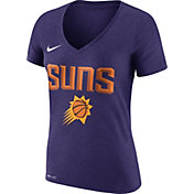 Nike Women's Phoenix Suns Dri-FIT Purple Wordmark V-Neck T-Shirt