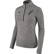 Nike Women's San Antonio Spurs Dri-FIT Black Element Half-Zip Pullover