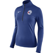 Nike Women's Philadelphia 76ers Dri-FIT Royal Element Half-Zip Pullover