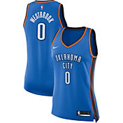 Nike Women's Oklahoma City Thunder Russell Westbrook #0 Blue Dri-FIT Swingman Jersey