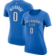 Nike Women's Oklahoma City Thunder Russell Westbrook #0 Dri-FIT Blue T-Shirt