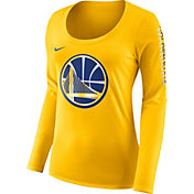 Nike Women's Golden State Warriors Dri-FIT Gold Logo Long Sleeve Shirt