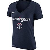 Nike Women's Washington Wizards Dri-FIT Navy Wordmark V-Neck T-Shirt
