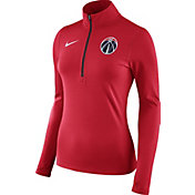 Nike Women's Washington Wizards Dri-FIT Red Element Half-Zip Pullover