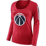 Nike Women's Washington Wizards Dri-FIT Red Logo Long Sleeve Shirt