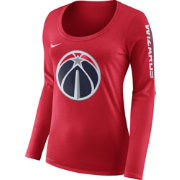 Nike Women's Washington Wizards Dri-FIT Red Logo Long Sleeve Shirt