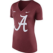 Nike Women's Alabama Crimson Tide Crimson Stripe Bar V-Neck T-Shirt