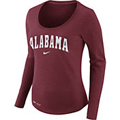 Nike Women's Alabama Crimson Tide Heathered Crimson Slub Dri-FIT Long Sleeve Shirt