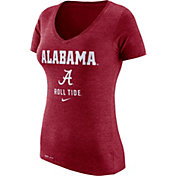 Nike Women's Alabama Crimson Tide Crimson Franchise Dri-Blend V-Neck T-Shirt