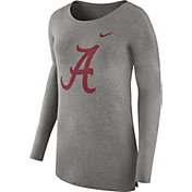 Nike Women's Alabama Crimson Tide Grey Cozy Long Sleeve Shirt