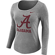 Nike Women's Alabama Crimson Tide Grey Logo Tri-Blend Long Sleeve Shirt