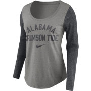 Nike Women's Alabama Crimson Tide Grey Elevated Essentials Tri-Blend Long Sleeve Shirt