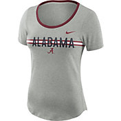 Nike Women's Alabama Crimson Tide Grey Strike Slub Performance T-Shirt