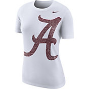 Nike Women's Alabama Crimson Tide Boy Cut White Tri-Blend T-Shirt