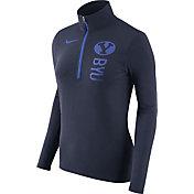 Nike Women's BYU Cougars Heathered Blue Element Half-Zip Shirt