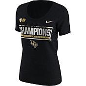 Nike Women's UCF Knights 2018 Chick-Fil-A Peach Bowl Champions Scoop Neck Locker Room T-Shirt