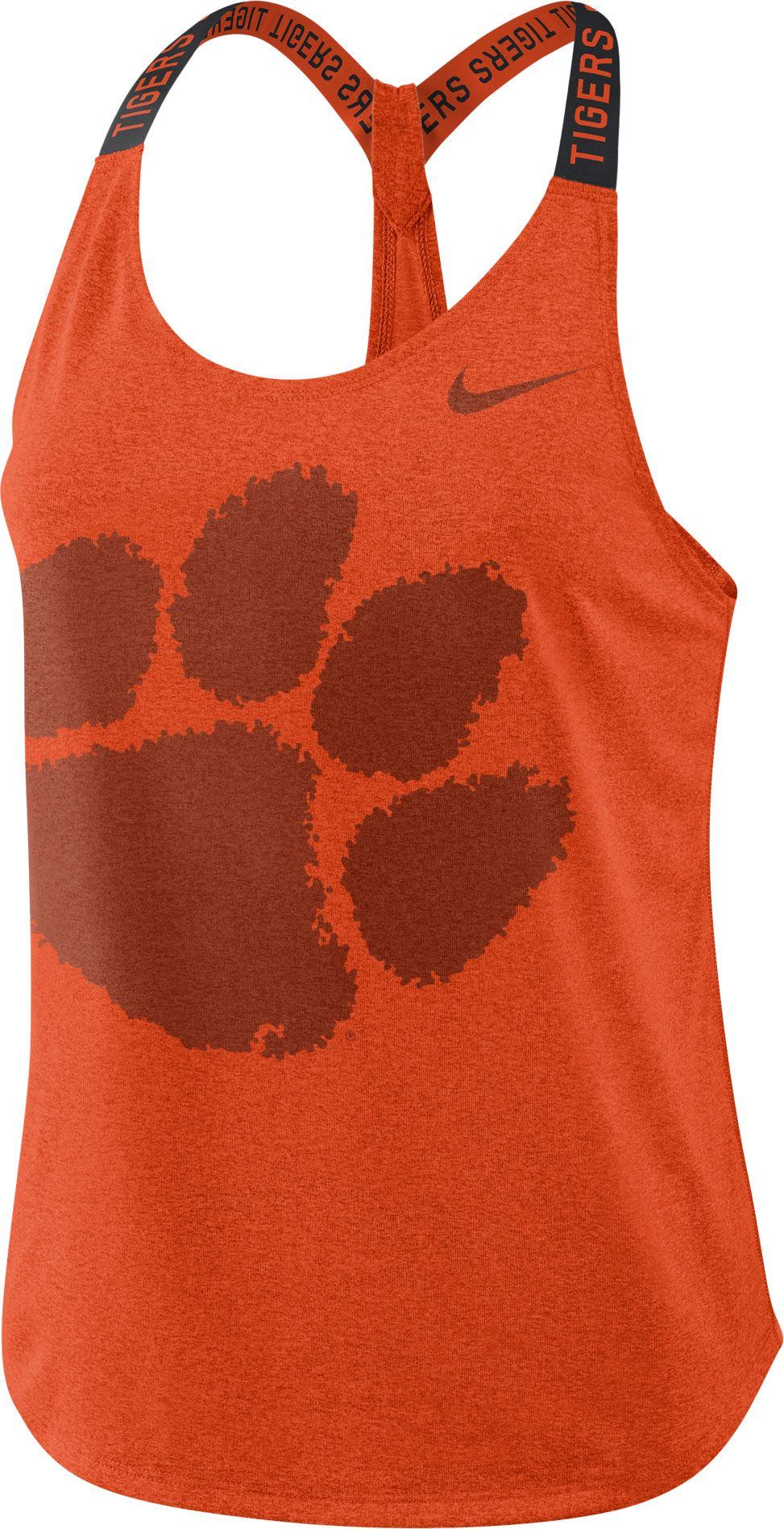 Nike Women's Clemson Tigers Orange Dri Fit Elastika Tank Top by Nike