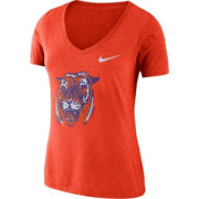 Nike Women's Clemson Tigers Orange Vault Tri-Blend V-Neck T-Shirt