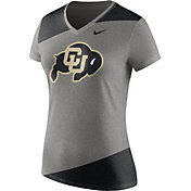 Nike Women's Colorado Buffaloes Grey/Black Champ Drive Football Dri-Blend V-Neck T-Shirt
