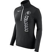 Nike Women's Colorado Buffaloes Heathered Black Element Half-Zip Shirt