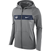 Nike Women's UConn Huskies Grey Full-Zip Hoodie