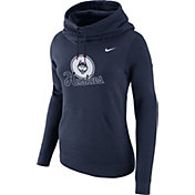 Nike Women's UConn Huskies Blue Club Funnel Neck Hoodie