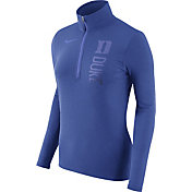 Nike Women's Duke Blue Devils Heathered Duke Blue Element Half-Zip Shirt