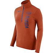 Nike Women's Florida Gators Heathered Orange Element Half-Zip Shirt