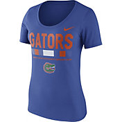 Nike Women's Florida Gators Blue Football Sideline Scoop T-Shirt