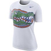 Nike Women's Florida Gators Boy Cut White Tri-Blend T-Shirt