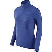 Nike Women's Air Force Falcons Heathered Blue Element Half-Zip Shirt