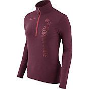 Nike Women's Florida State Seminoles Heathered Garnet Element Half-Zip Shirt