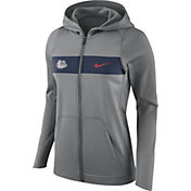 Nike Women's Gonzaga Bulldogs Grey Full-Zip Hoodie