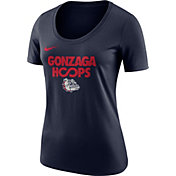 Nike Women's Gonzaga Bulldogs Blue 'Gonzaga Hoops' Basketball T-Shirt
