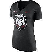 Nike Women's Georgia Bulldogs Black Stripe Bar V-Neck T-Shirt