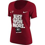 Nike Women's Georgia Bulldogs 2018 Rose Bowl Game Champions Scoop Neck Locker Room T-Shirt