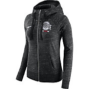 Nike Women's Ohio State Buckeyes Heathered Black Gym Vintage Full-Zip Hoodie