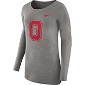 Nike Women's Ohio State Buckeyes Grey Cozy Long Sleeve Shirt