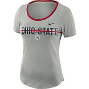 Nike Women's Ohio State Buckeyes Gray Strike Slub Performance T-Shirt