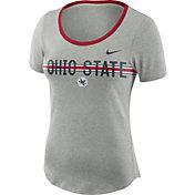 Nike Women's Ohio State Buckeyes Gray Strike Slub Performance T-Shirt