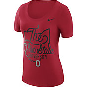 Nike Women's Ohio State Buckeyes Scarlet 'The Ohio State University' Local Elements T-Shirt