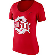 Nike Women's Ohio State Buckeyes Scarlet Modern Sport Scoop Neck T-Shirt