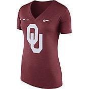 Nike Women's Oklahoma Sooners Crimson Stripe Bar V-Neck T-Shirt