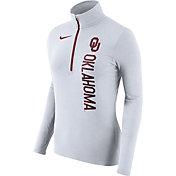 Nike Women's Oklahoma Sooners Heathered White Element Half-Zip Shirt