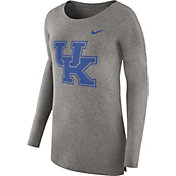 Nike Women's Kentucky Wildcats Grey Cozy Long Sleeve Shirt